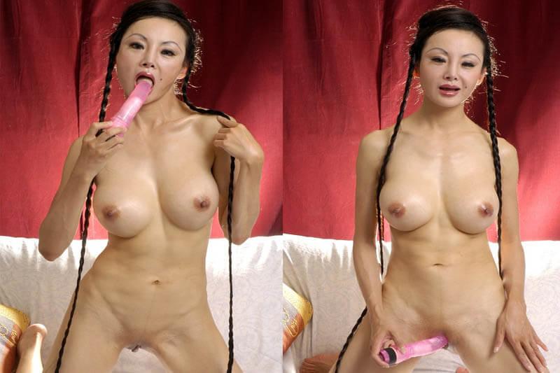 Sexy Asia Milfs beim Wichsen am Telefon heimlich belauschen